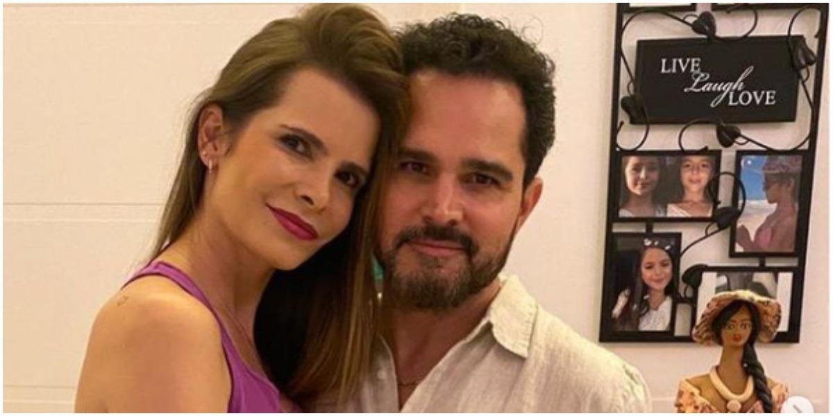 Luciano Camargo expôs virada de ano ao lado da esposa e filhos (Foto: Reprodução)