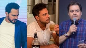 Zezé, Luciano e Faustão receberam previsões da sensitiva Elizete (Foto: Reprodução/Instagram/TV Globo)