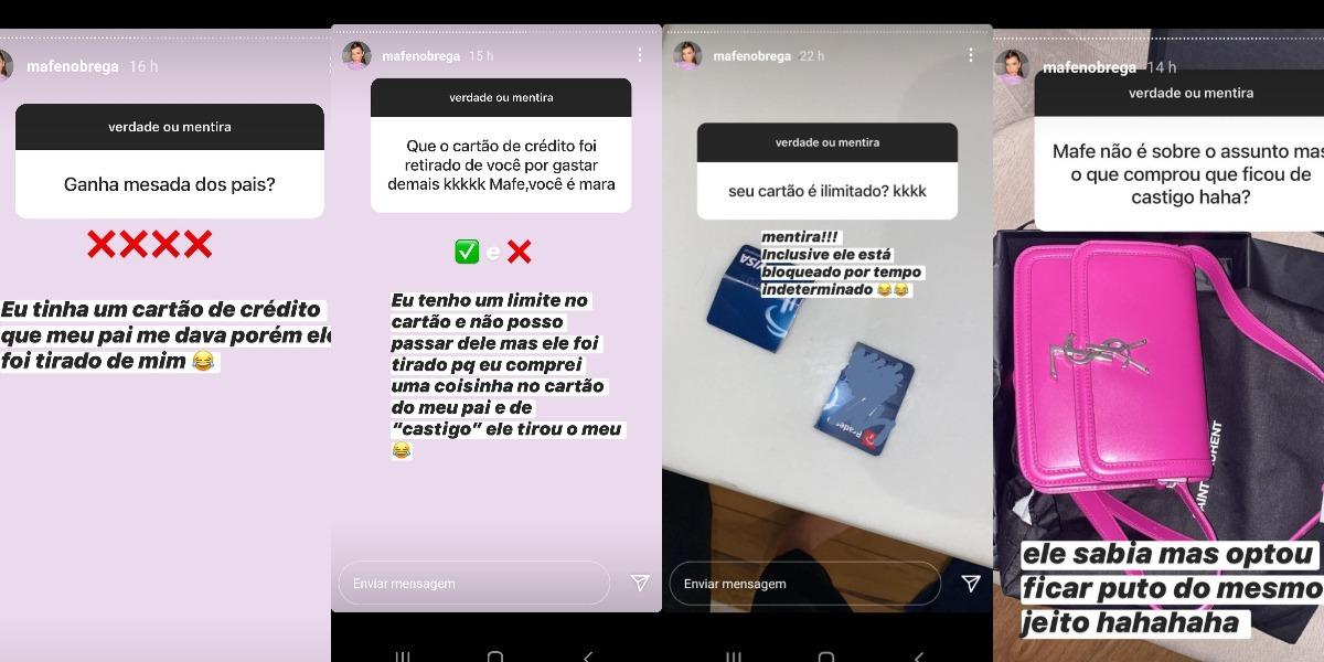 """Mafe Nóbrega brincou de """"verdade x mentira"""" com os seguidores (Foto: Reprodução/Instagram)"""