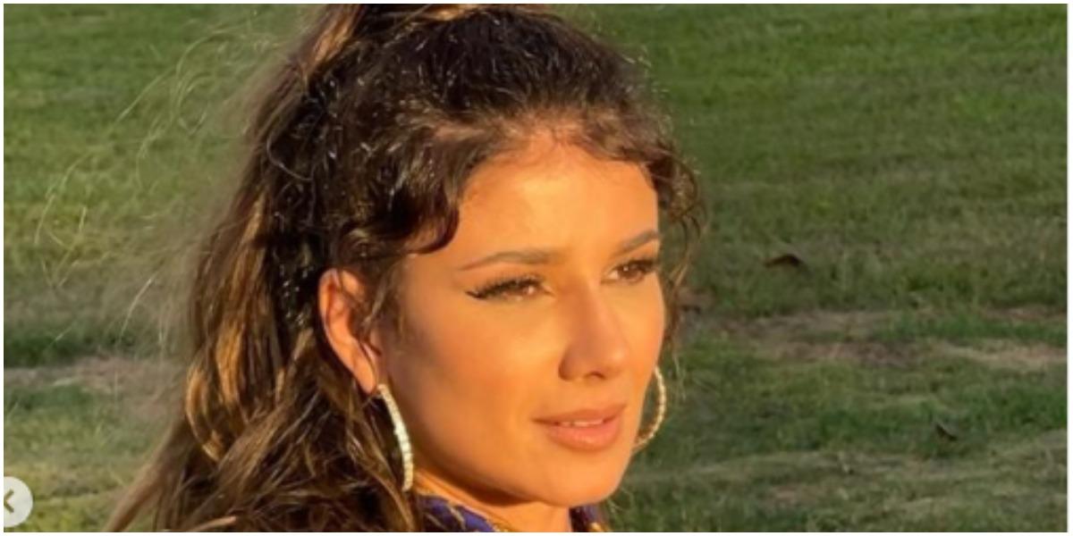 Paula Fernandes posou sexy nas redes sociais e deu o que falar com registro (Foto: Reprodução)
