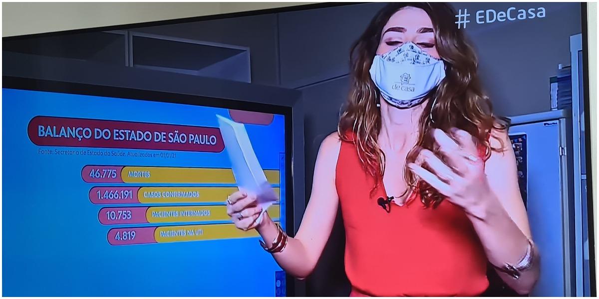 Repórter da Globo ficou bastante ofegante durante o programa É da Globo - Foto: Reprodulção