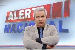 O apresentador Sikêra Jr. comandando o Alerta Nacional - Foto: Reprodução