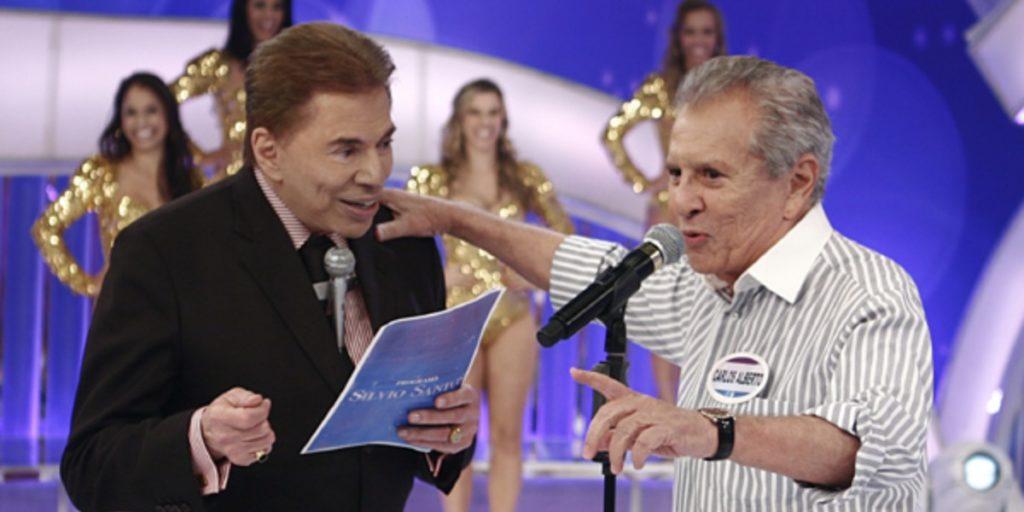 Silvio Santos e Carlos Alberto de Nóbrega (Foto: Reprodução/SBT)
