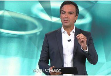 O apresentador do Fantástico, Tadeu Schmidt - Foto: Reprodução