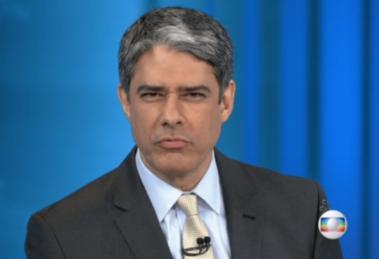 William Bonner comanda o Jornal Nacional, produto mais caro da TV brasileira para se anunciar (Foto reprodução)