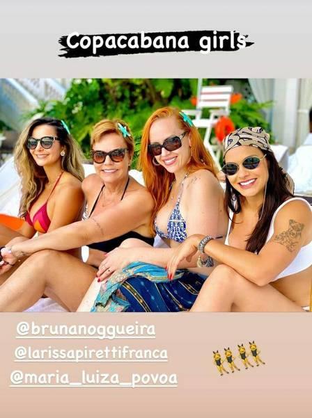 Andressa Suita se hospedou com algumas amigas no Copacabana Palace (Foto: Reprodução/ Instagram)