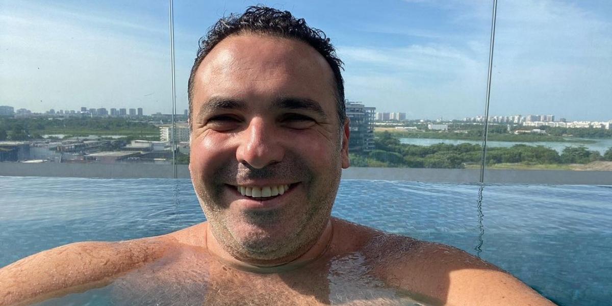 Reinaldo Gottino aproveita dia fora das telinhas (Reprodução)