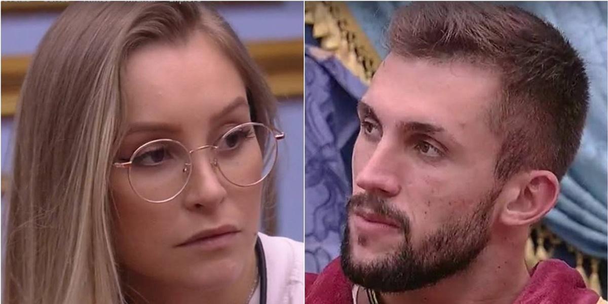 Ex-BBB Marcela deu a sua opinião sobre o relacionamento de Arthur com Carla Diaz (Foto: Montagem)
