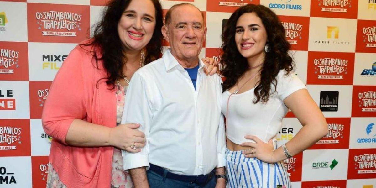 Lilian Taranto Aragão, Renato Aragão e Livian Aragão (Foto: Reprodução)