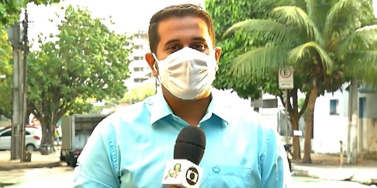 Isaac Macedo, repórter da Globo (Foto: Reprodução / Globo)