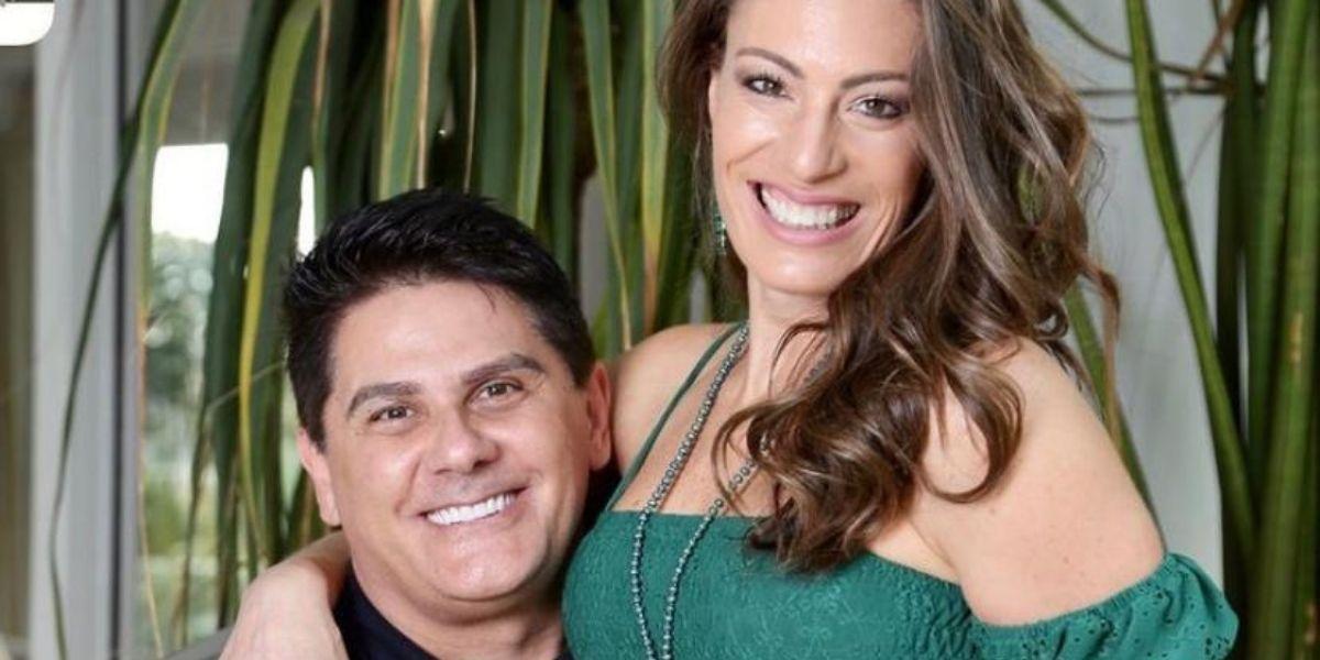 César Filho e a esposa, Elaine Mickely (Foto: Reprodução)