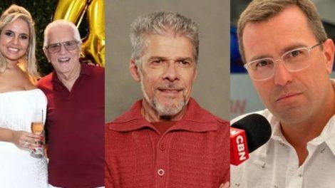 Carlos Alberto de Nóbrega, José Mayer e Rodrigo Bocardi foram os destaques de ontem (Foto: Reprodução/Instagram/Divulgação/TV Globo/Reprodução)