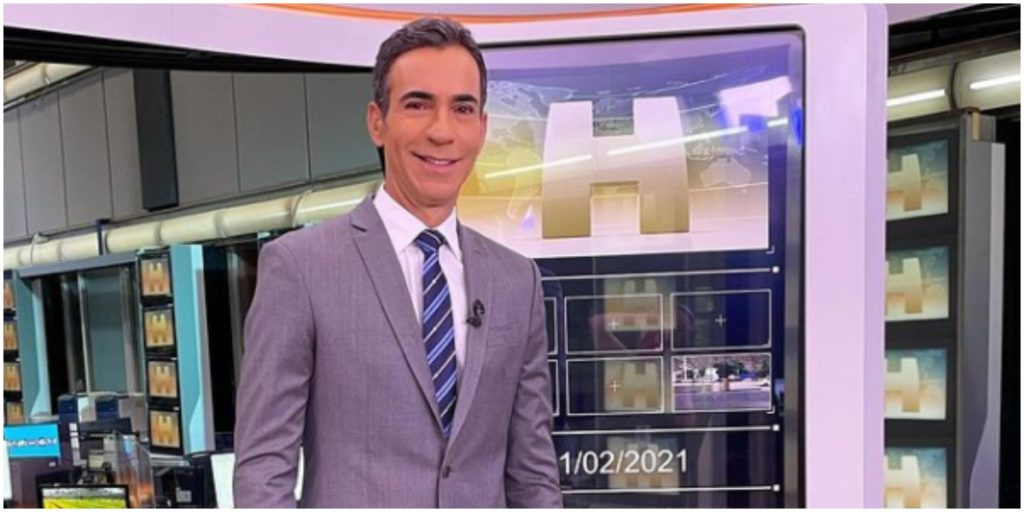 César Tralli assumiu o Jornal Hoje e está tendo problemas com a audiência (Foto: Reprodução)