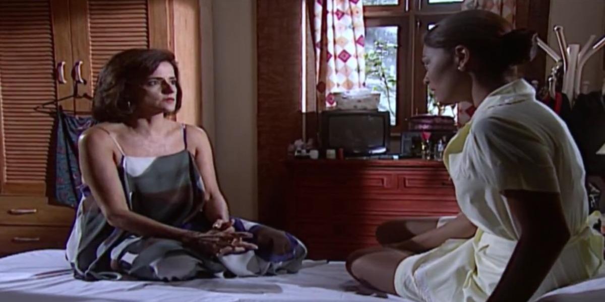 Rita revela para Alma que está grávida (Foto: Reprodução)