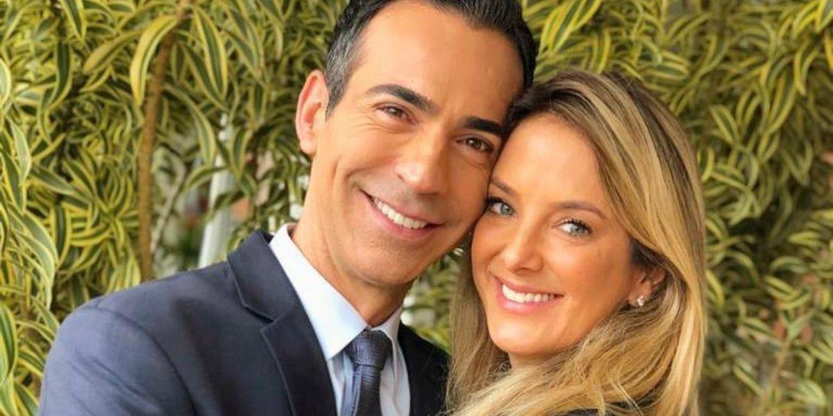 César Tralli e Ticiane Pinheiro (Foto: Reprodução)