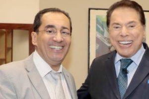 Jorge Kajuru e Silvio Santos (Foto: Reprodução)