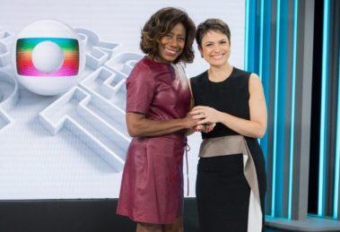 Glória Maria e Sandra Annenberg (Foto: Reprodução/Globo)