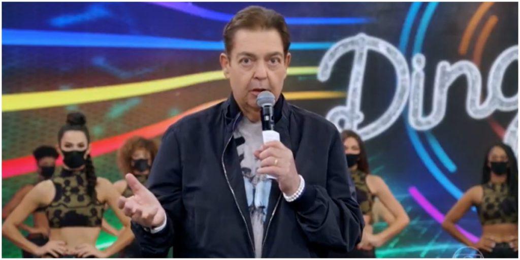O apresentador Faustão em seu programa na Globo - Foto: Reprodução