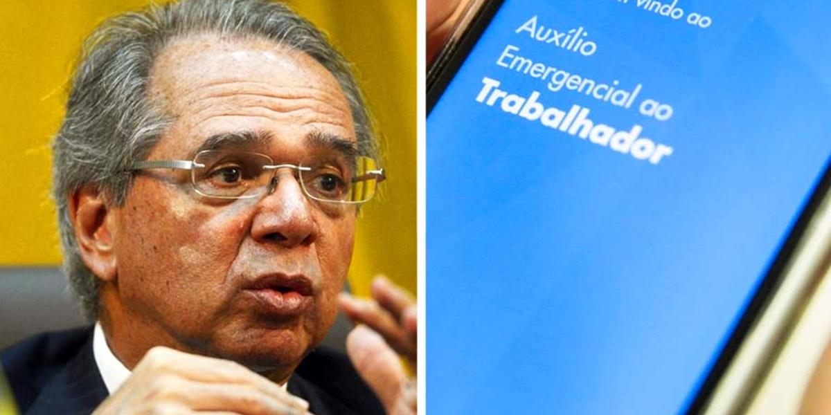 Paulo Guedes divulgou valores do novo Auxílio Emergencial (Foto: Reprodução)