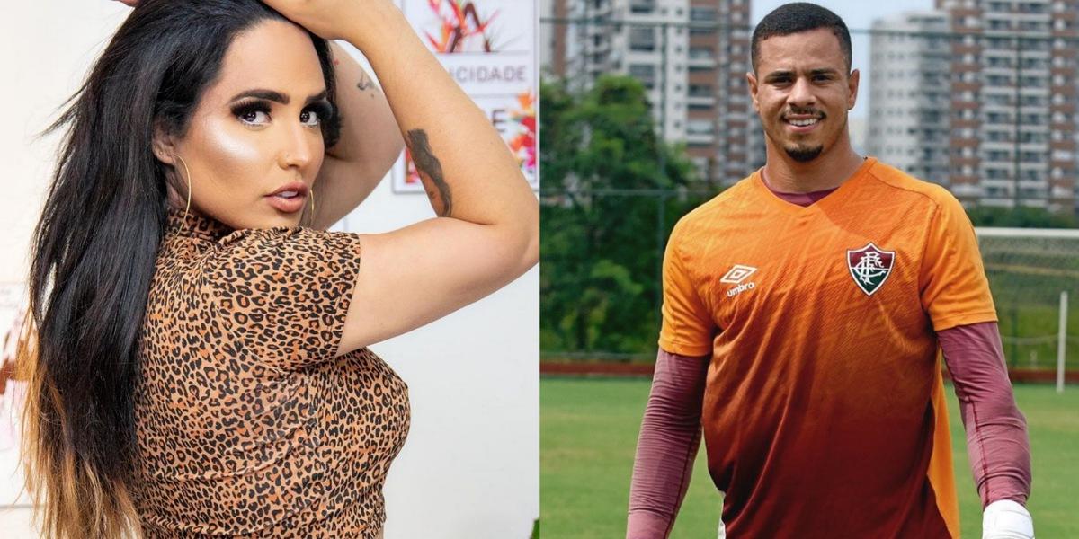 Perlla engata namoro com João Lopes, goleiro do Fluminense - Foto: Reprodução
