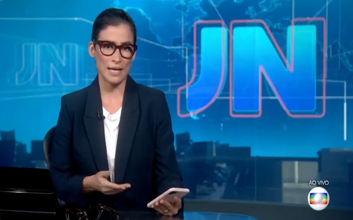 Renata Vasconcellos em plantão da Globo (Foto: Divulgação)