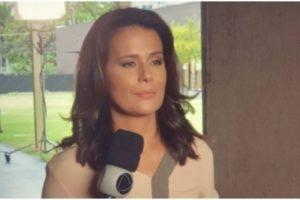 Adriana Araújo apareceu em telejornal da Band (Foto: Reprodução)