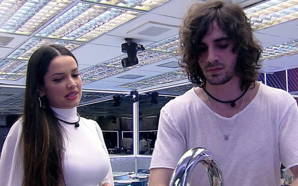 Juliette e Fiuk no BBB21 (Foto: Reprodução/TV Globo)