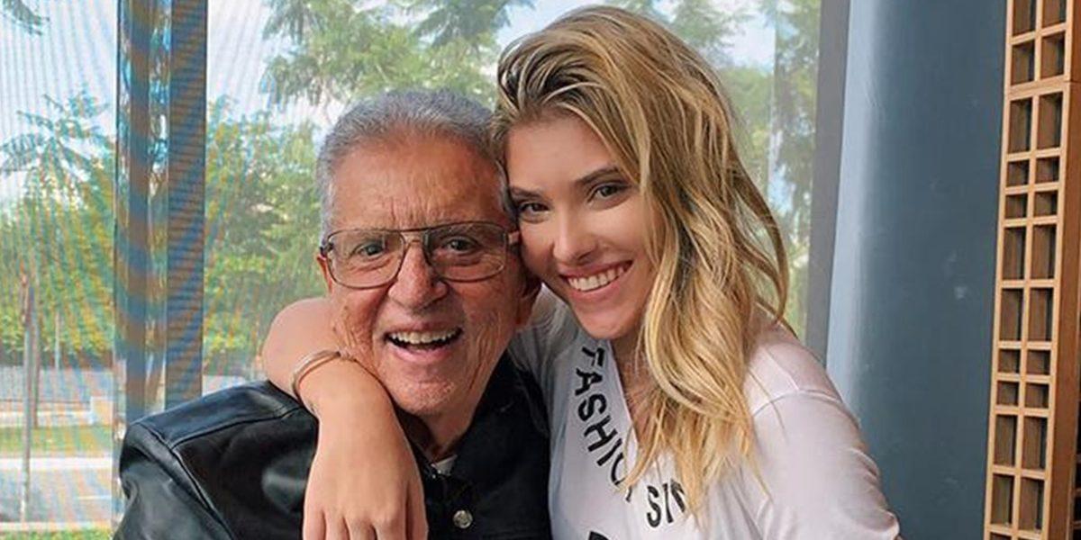 Carlos Alberto ao lado da filha, Mafe Nóbrega (Foto: Reprodução)