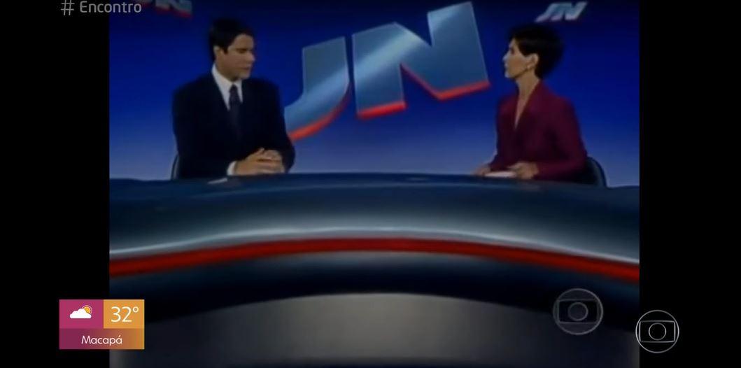 """William Bonner e Fátima Bernardes no """"Encontro"""" (Foto: Reprodução/TV Globo)"""