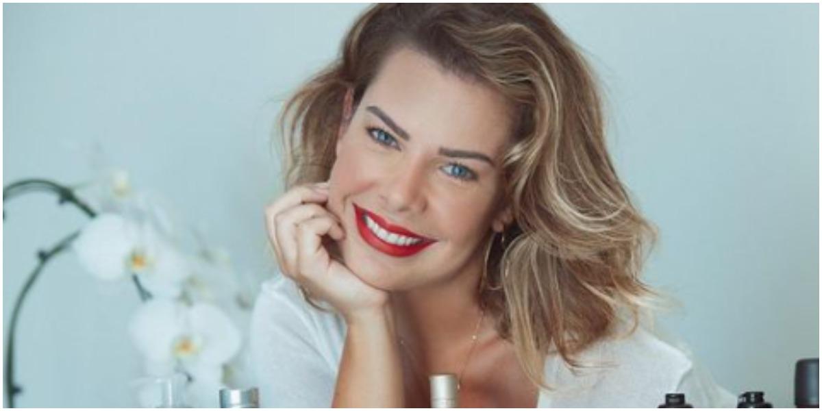 Fernanda Souza se declara para mulher (Foto: Reprodução)