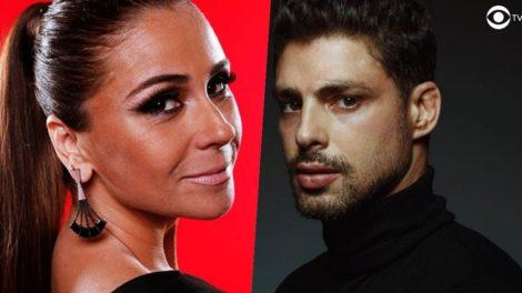 Fotomontagem dos atores da Globo Giovanna Antonelli e Cauã Reymond
