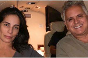 Gloria Pires ao lado de Orlando Morais, seu marido (Foto: Reprodução)