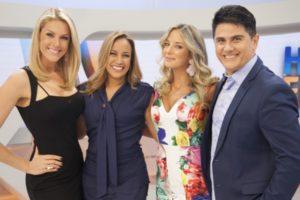 """""""Hoje em Dia"""" é apresentado por Ana Hickmann, Renata Alves, Ticiane Pinheiro e César Filho (Foto: Divulgação/Record)"""