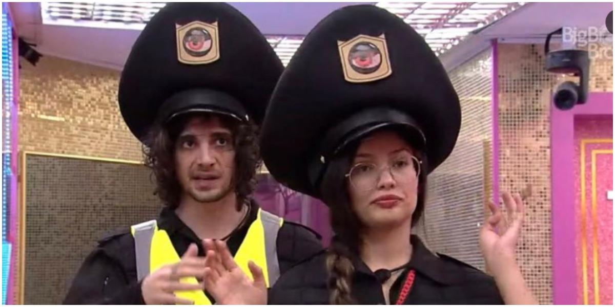 Fiuk e Juliette cumprem o castigo do anjo no BBB21 (Foto: Reprodução/ Globo)