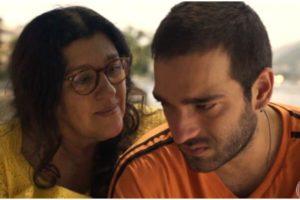 Lurdes e Domênico na novela Amor de Mãe - Foto: Reprodução