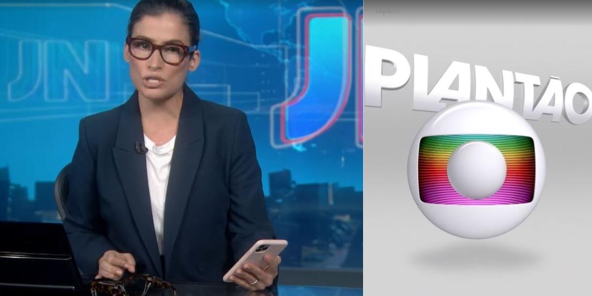 """Renata Vasconcellos entrou em """"Plantão da Globo"""" (Foto: Reprodução/TV Globo)"""