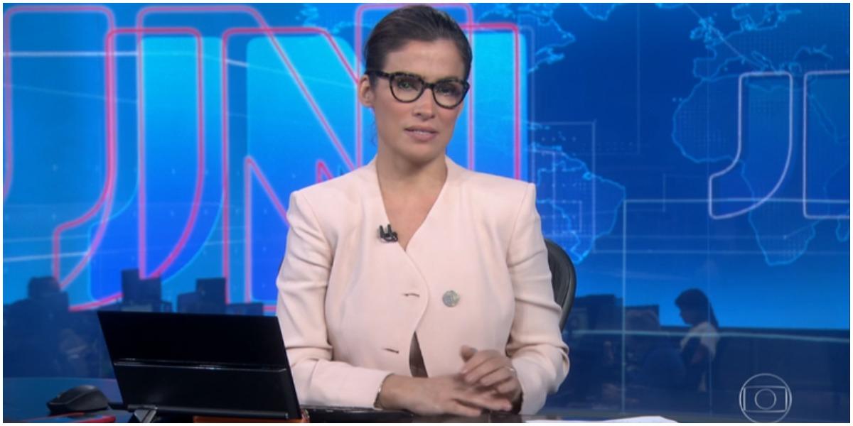 Renata Vasconcellos é a âncora do Jornal Nacional - Foto: Reprodução