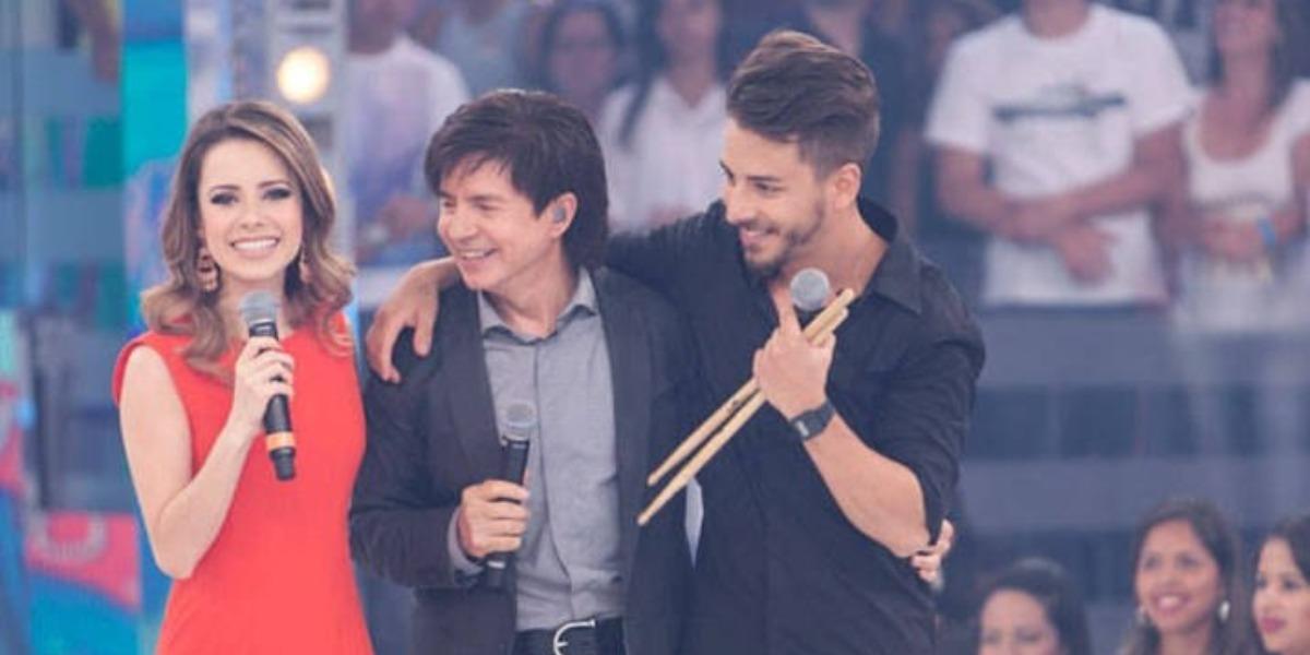 Xororó, Sandy e Junior (Foto: Reprodução/TV Globo)