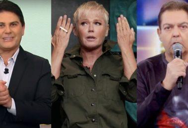 Xuxa, Faustão e César Filho tiveram nomes envolvidos no polêmico Papa-Tudo (Foto: Reprodução/Record/GNT/TV Globo)