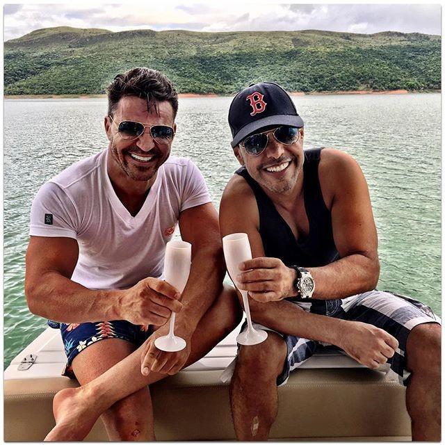 Eduardo Costa e Zezé Di Camargo atualmente são amigos (Foto: Reprodução)