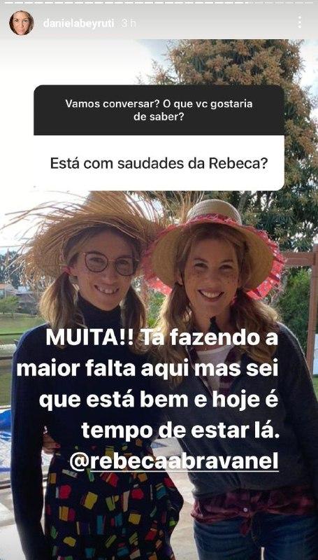 Daniela Beyruti falou da saudade de Rebeca Abravanel (Foto: Reprodução/ Instagram)