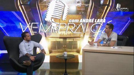 André Lara na TV8 (Foto divulgação)