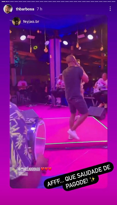 O cantor usou as redes sociais para expor a saudade dos palcos (Foto: Reprodução/ Instagram)