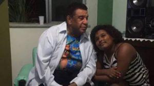 Agnaldo Timóteo em foto ao lado da filha adotiva (Foto: Reprodução)