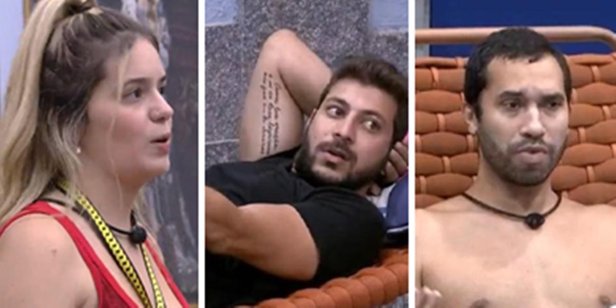 Viih Tube, Caio e Gil no BBB21 (Imagem: Montagem/TV Foco)