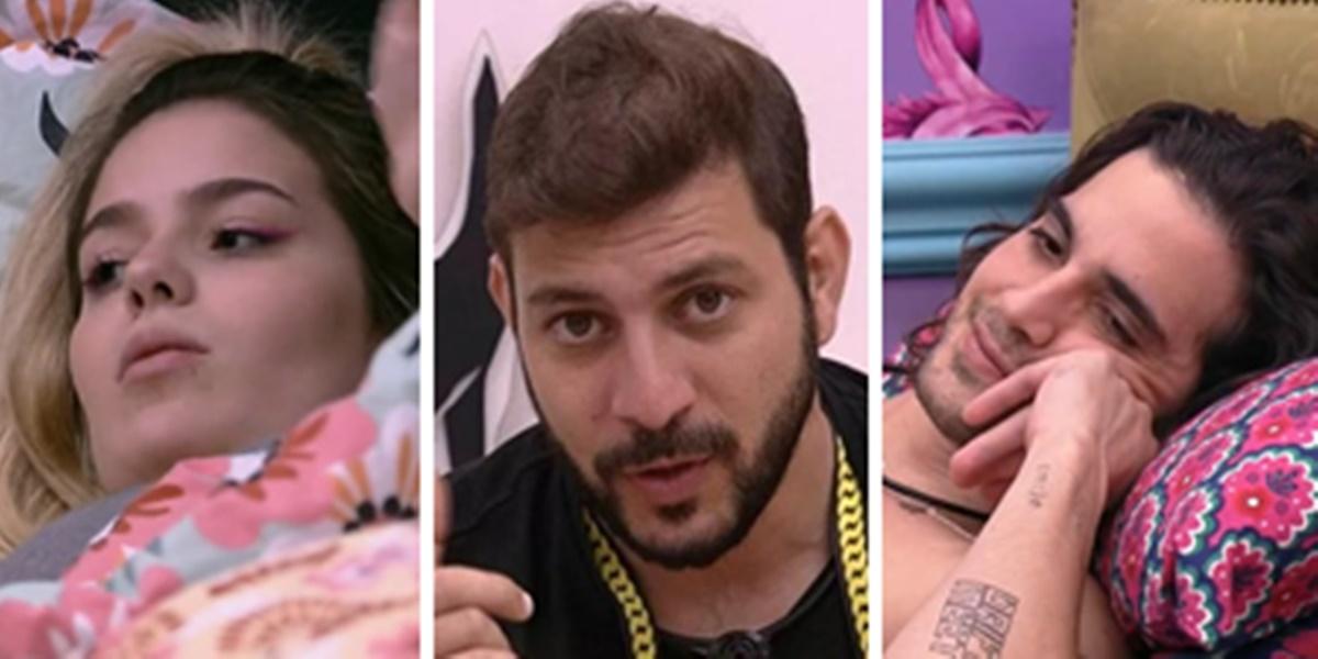 Viih Tube, Caio e Fiuk no BBB21 (Imagem: Montagem/TV Foco)