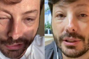 Danilo Gentili surgiu com rosto deformado na web (Imagem: Montagem)