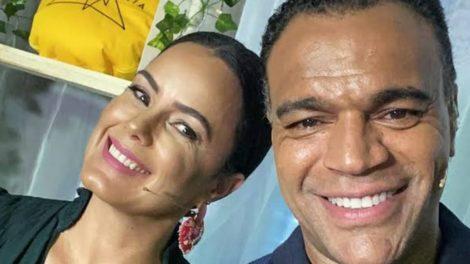 Denilson e a esposa, Luciele Di Camargo (Foto: Reprodução)