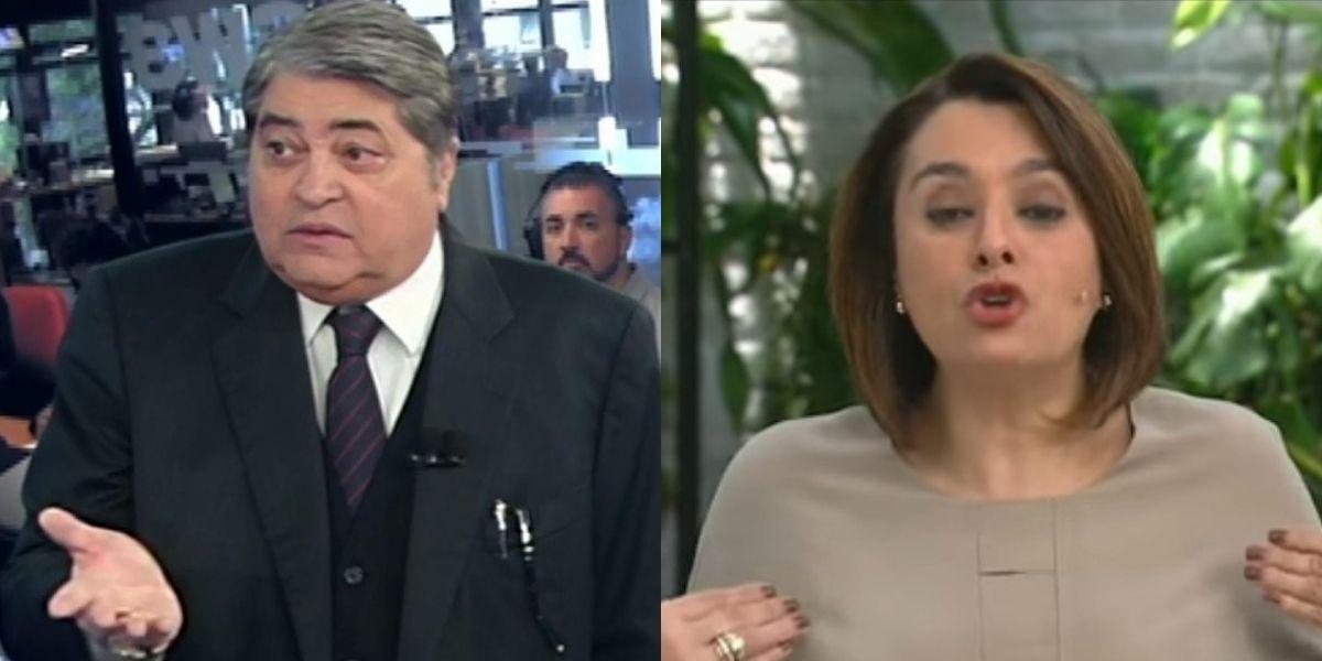 """Datena passa mal após maldade de Catia Fonseca, coloca a mão no peito ao vivo e gera choque: """"Pegou no coração"""""""
