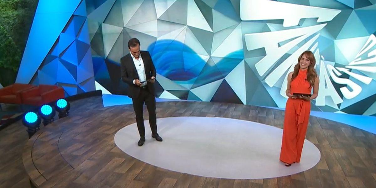 Tadeu Schmidt e Poliana Abritta (Foto: Reprodução/Globo)